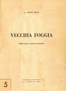 Arturo Oreste Bucci - Vecchia Foggia Vol. 5