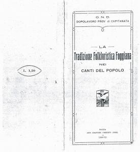 Amelia Rabbaglietti - La tradizione folkloristica foggiana