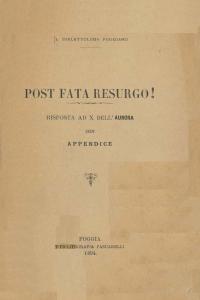 Filippo Bellizzi - Post fata resurgo!