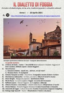 Il dialetto di Foggia n. 12 del 10-04-2021