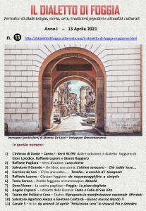 Il dialetto di Foggia n. 13 del 13-04-2021