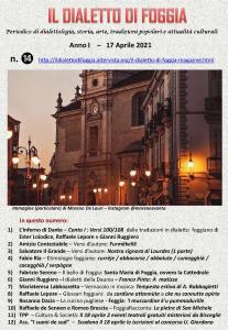 Il dialetto di Foggia n. 14 del 17-04-2021