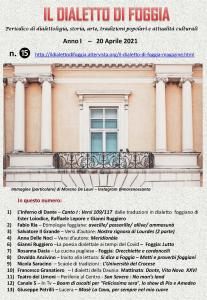 Il dialetto di Foggia n. 15 del 20-04-2021
