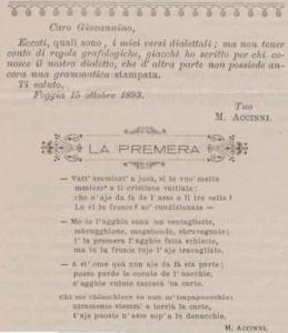 Michele Accinni - La premera