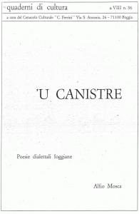 Alfio Mosca - 'U canistre